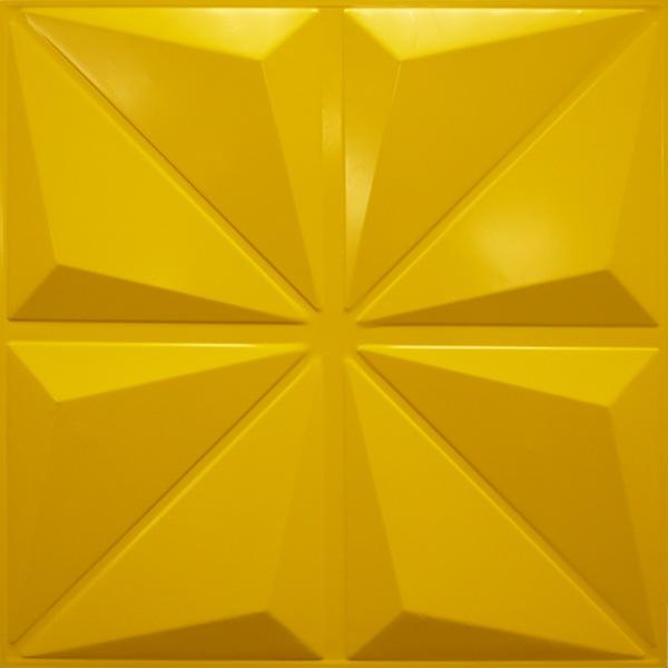 NDSB3005YE スチール製3パネル 3Dジン 黄色 300×300mm
