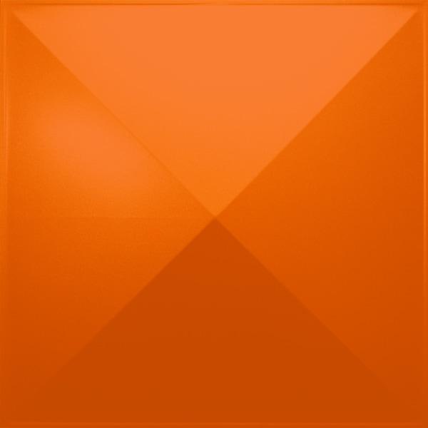 NDSB3008OR スチール製3パネル 3Dジン オレンジ色 300×300mm