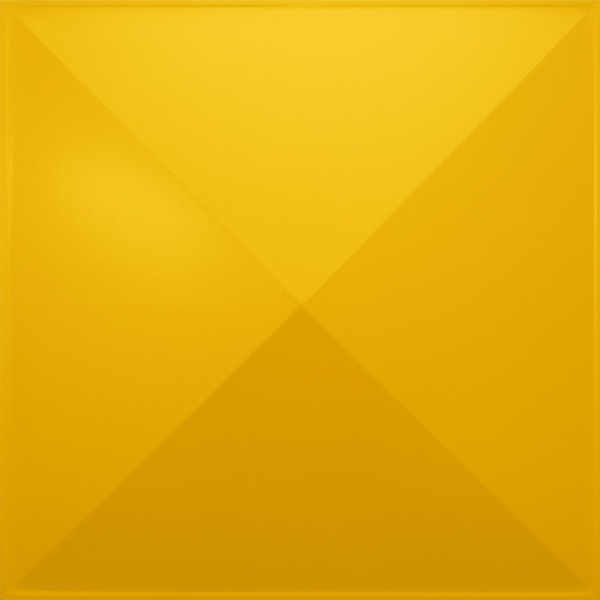 NDSB3008YE スチール製3パネル 3Dジン 黄色 300×300mm