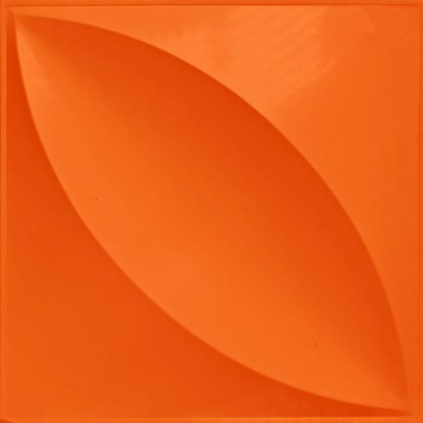 NDSB3009OR スチール製3パネル 3Dジン オレンジ色 300×300mm