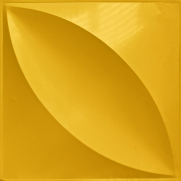 NDSB3009YE スチール製3パネル 3Dジン 黄色 300×300mm