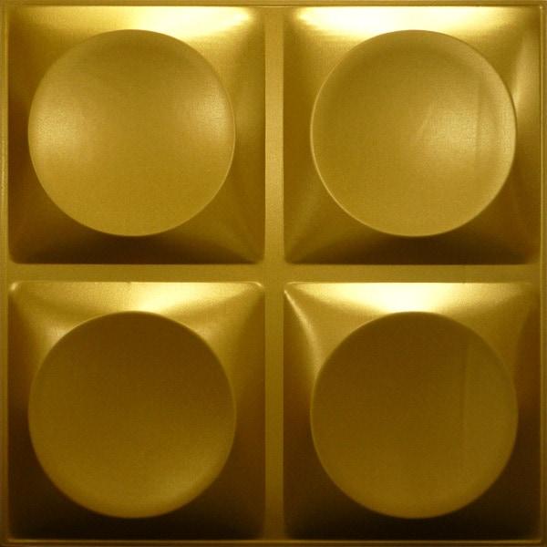 NDSB3010GL スチール製3パネル 3Dジン 金色 300×300mm
