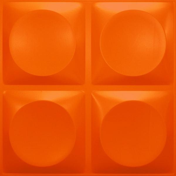NDSB3010OR スチール製3パネル 3Dジン オレンジ色 300×300mm