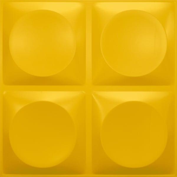 NDSB3010YE スチール製3パネル 3Dジン 黄色 300×300mm