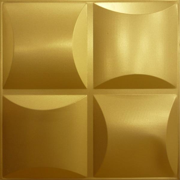 NDSB3011GL スチール製3パネル 3Dジン 金色 300×300mm