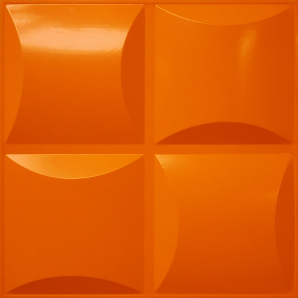 NDSB3011OR スチール製3パネル 3Dジン オレンジ色 300×300mm