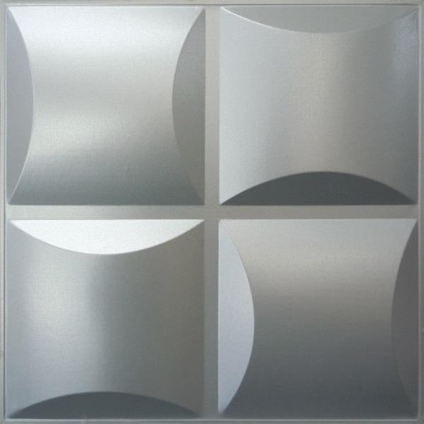 NDSB3011SL スチール製3パネル 3Dジン 銀色 300×300mm