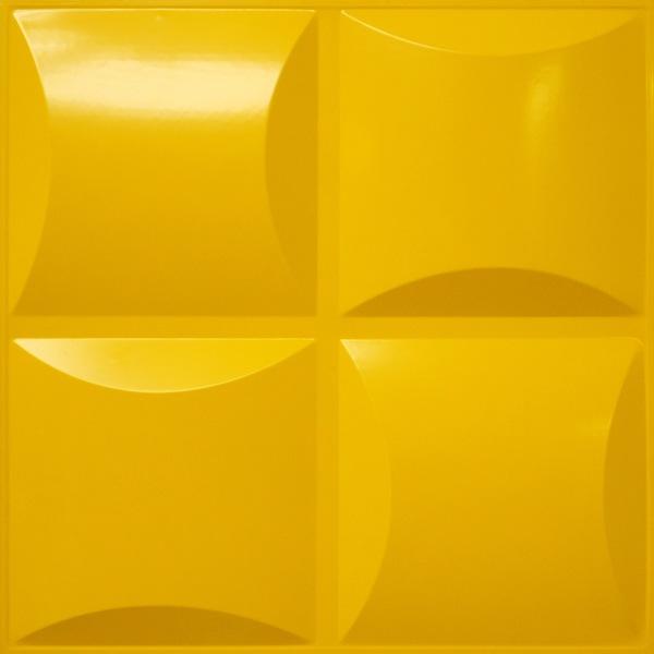 NDSB3011YE スチール製3パネル 3Dジン 黄色 300×300mm