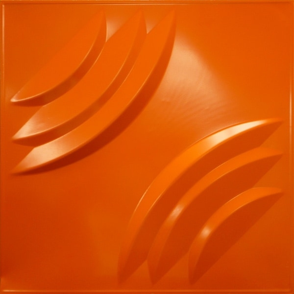 NDSB3012OR スチール製3パネル 3Dジン オレンジ色 300×300mm