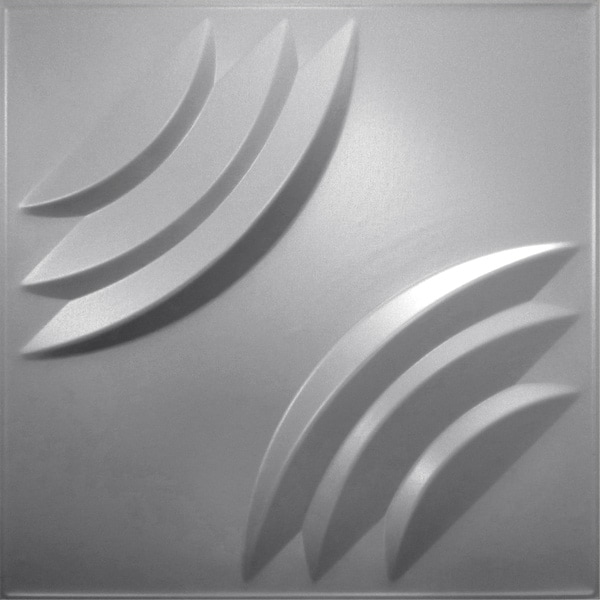 NDSB3012SL スチール製3パネル 3Dジン 銀色 300×300mm