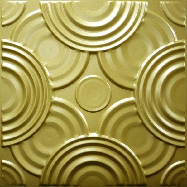 NDSB5001GL 3Dジン スチール製 金色 500×500mm