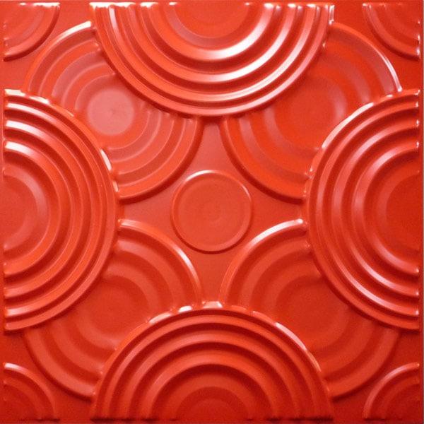 NDSB5001RE 3Dジン スチール製 赤色 500×500mm