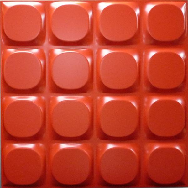 NDSB5002RE 3Dジン スチール製 赤色 500×500mm