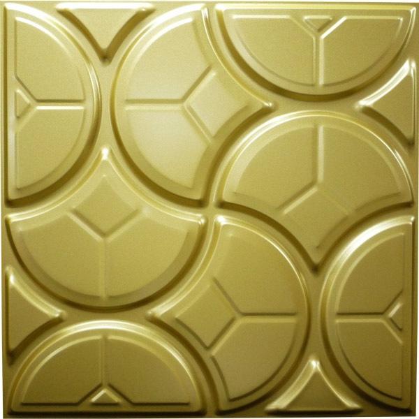 NDSB5003GL 3Dジン スチール製 金色 500×500mm