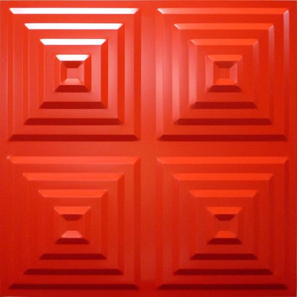 NDSB5004RE 3Dジン スチール製 赤色 500×500mm