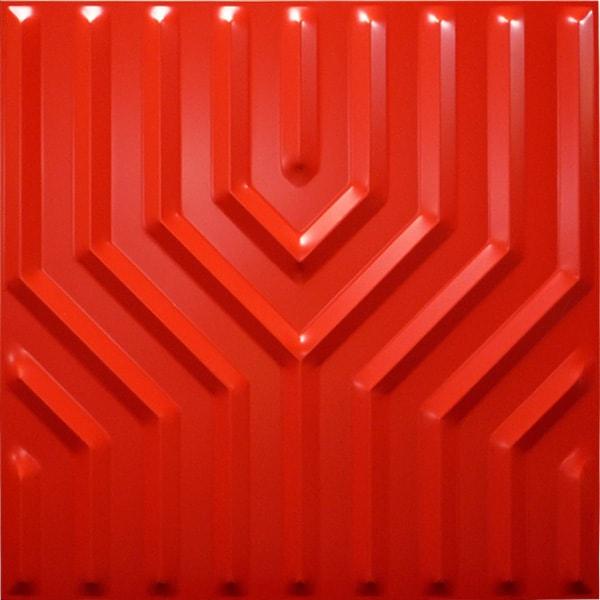 NDSB5005RE 3Dジン スチール製 赤色 500×500mm