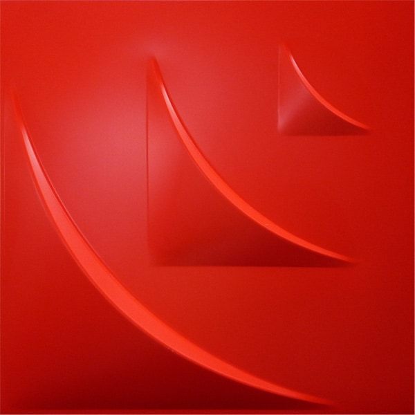 NDSB5006RE 3Dジン スチール製 赤色 500×500mm