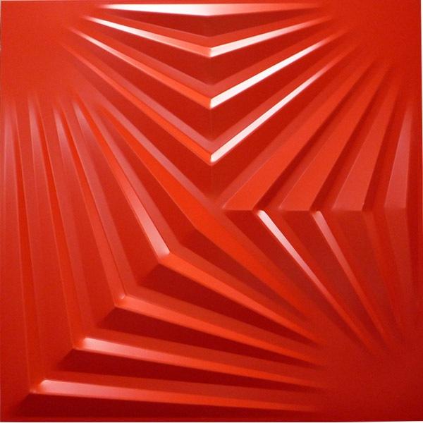 NDSB5007RE 3Dジン スチール製 赤色 500×500mm
