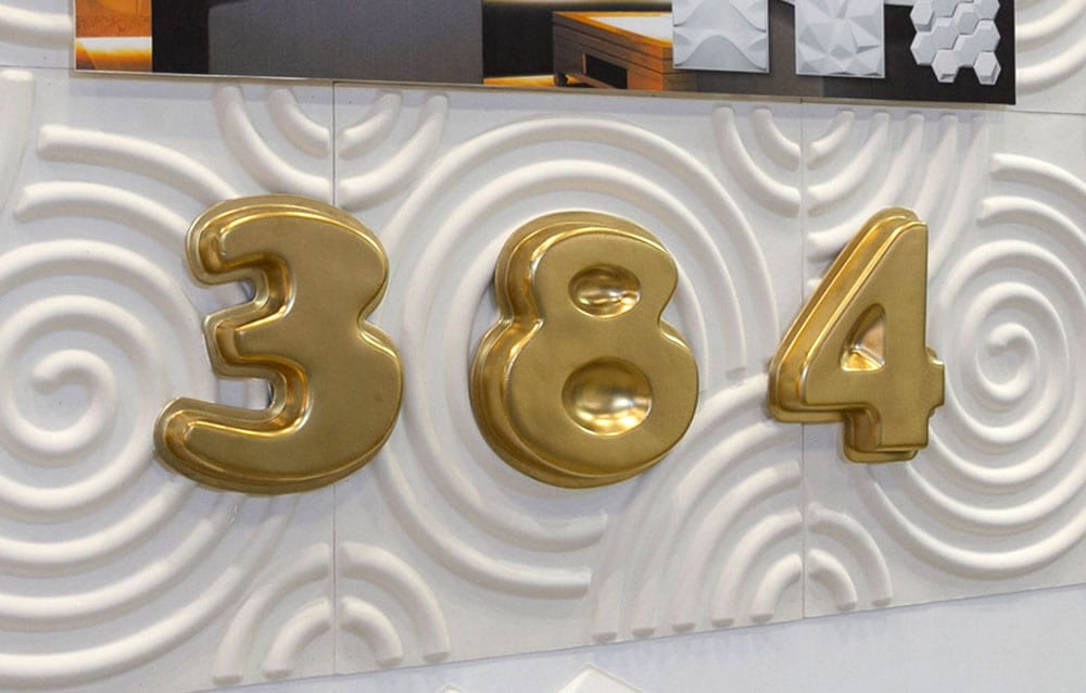 数字飾り 施工事例