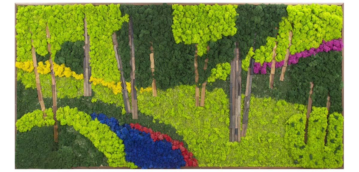 モス ウォールアート「自然とともに呼吸しよう」