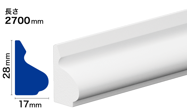 PVC製モールディング サンメントPVC NPV111B
