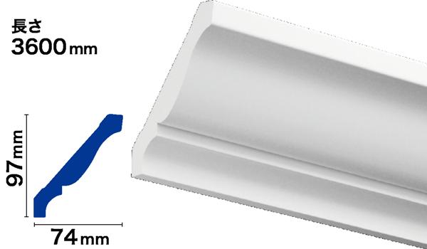 PVC製モールディング サンメントPVC NPV164