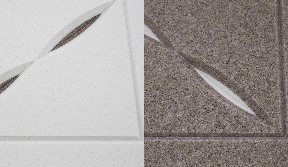 サンパーティションの表面は大理石調