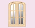 ハーフオーバル窓<