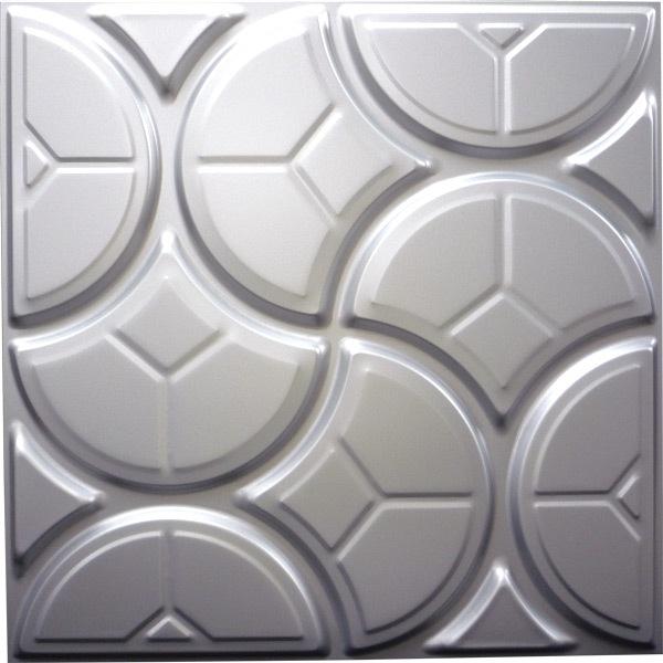 【NDSB5003SL】3Dジン スチール製 銀色 1枚 500×500mm