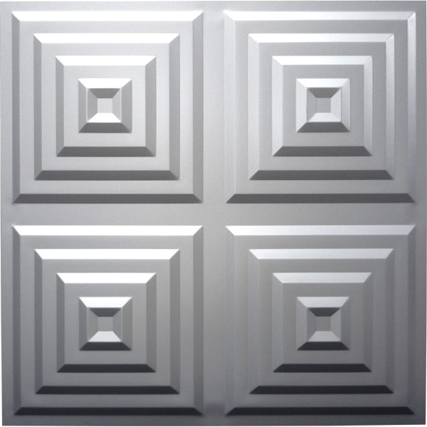 【NDSB5004SL】3Dジン スチール製 銀色 1枚 500×500mm