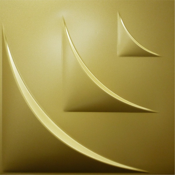 【NDSB5006GL】3Dジン スチール製 金色 1枚 500×500mm