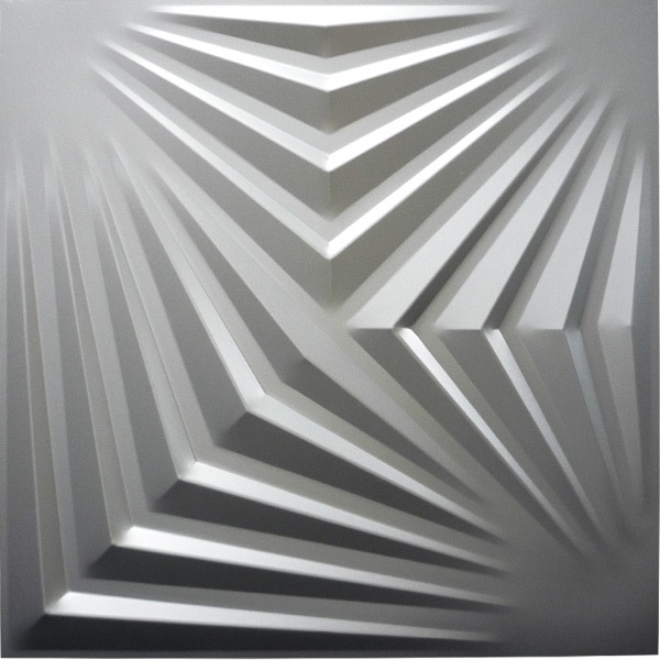 【NDSB5007SL】3Dジン スチール製 銀色 1枚 500×500mm