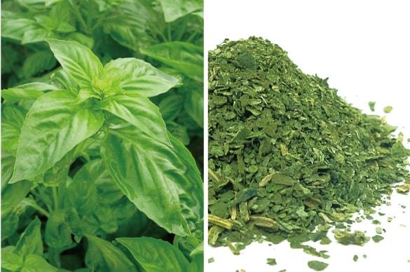 ミモレ農園で育った農薬不使用バジルを100%使用した、無添加「バジル粉末」です。