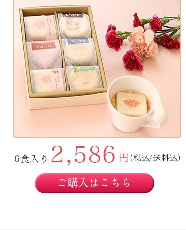 6食入り2,586円(税込/送料込)