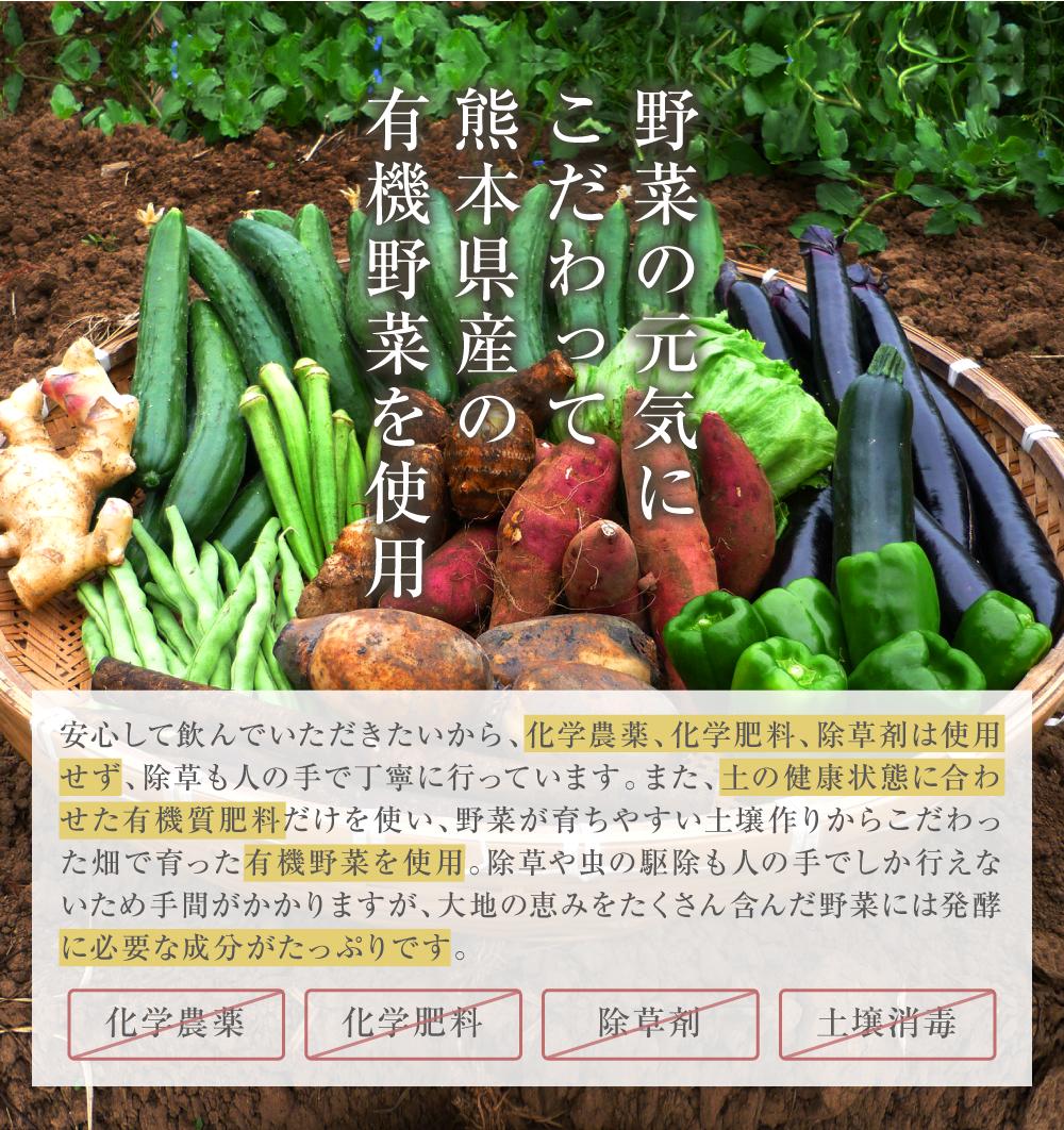 安全性にこだわった新鮮な野菜を使用
