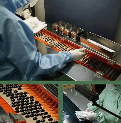 原材料だけでなく製造過程も厳しくチェック!GMP認証工場で製造しています