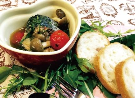 鯖缶を使ったアヒージョの簡単レシピ。時短料理におすすめ