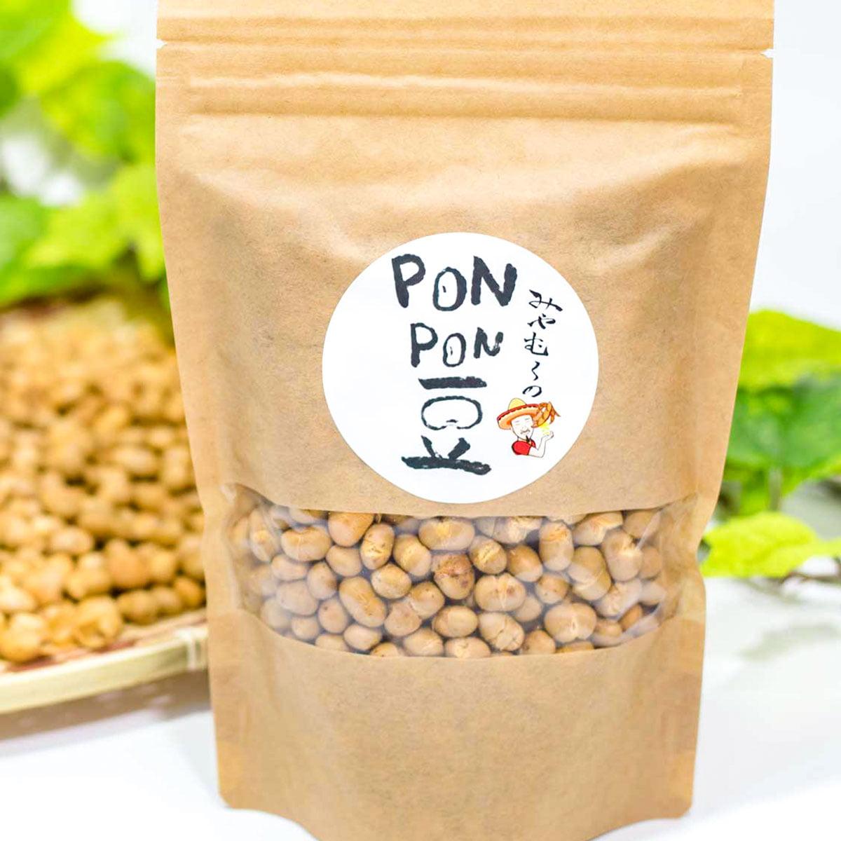 大豆ポン菓子 PONPON豆 バナー