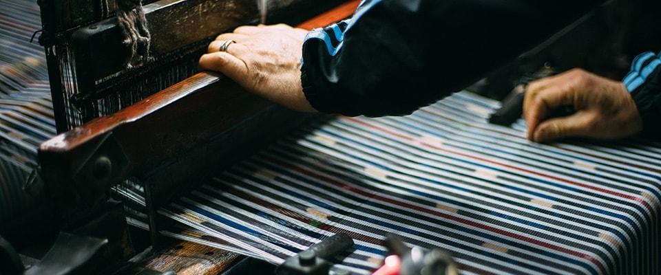 久留米絣織り写真