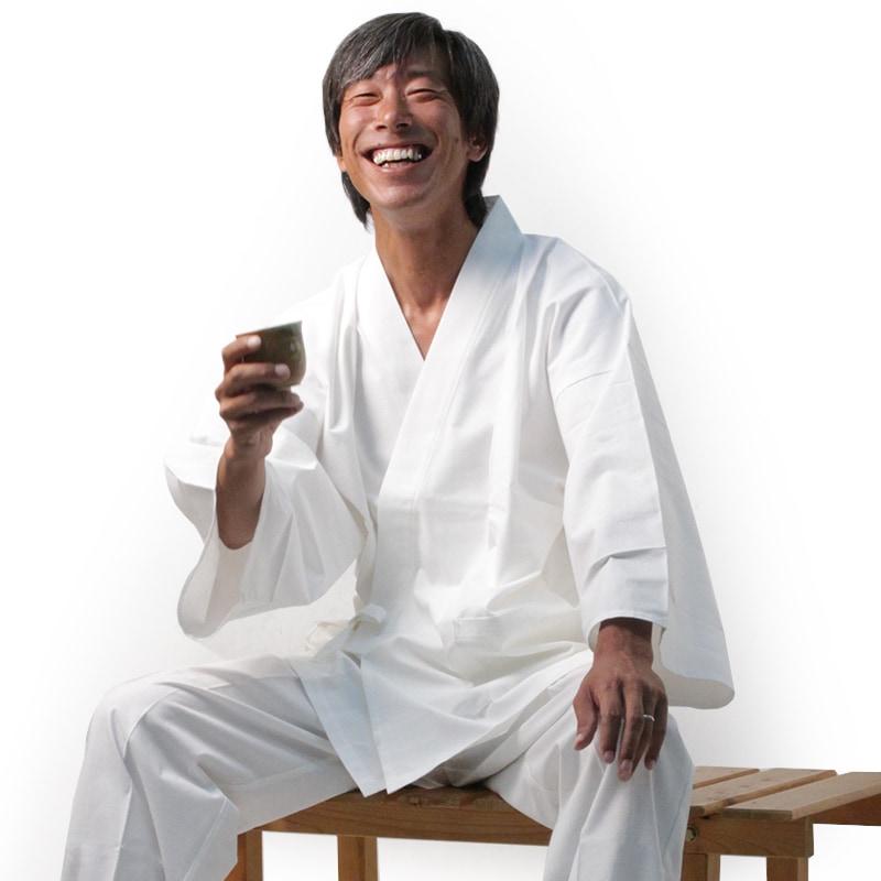 白作務衣モデル写真