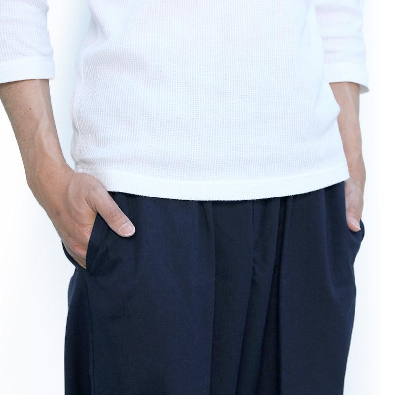 作務衣「ちぢみ織り」ポケット写真