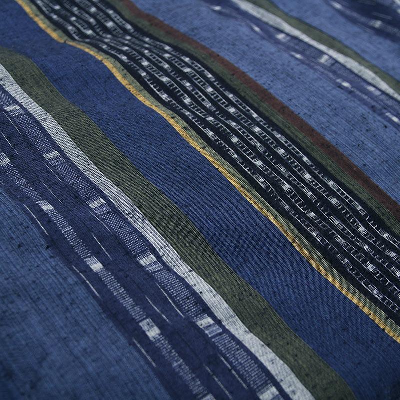 パッチ風柄の布地写真