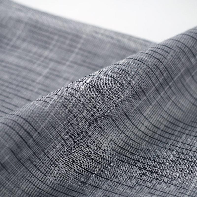 和木綿「からみ織り」生地 グレー