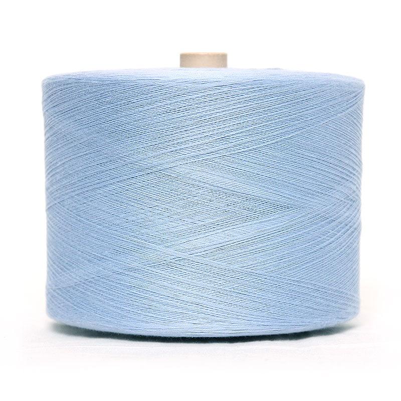 和木綿の水色糸