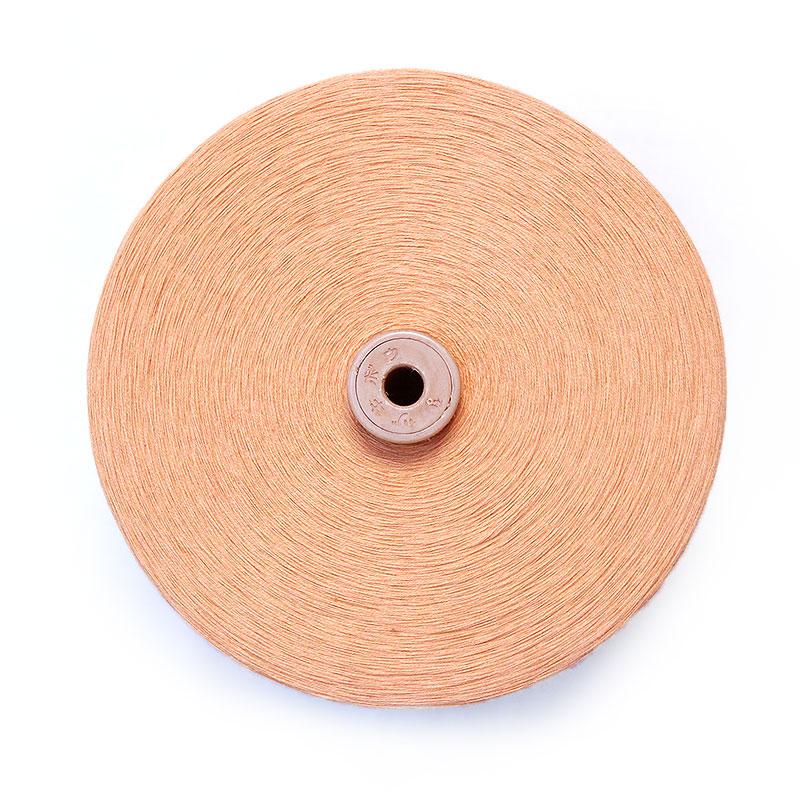 和木綿の糸「薄だいだい」の写真