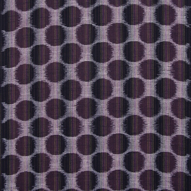 久留米絣「絵絣 ドット柄/パープル」の写真