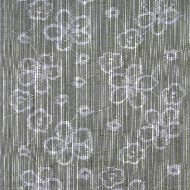 久留米絣「絵絣 花柄/薄緑」の写真