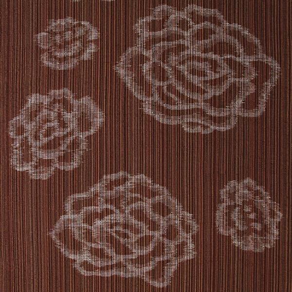 久留米絣「絵絣 しじら/茶」の写真