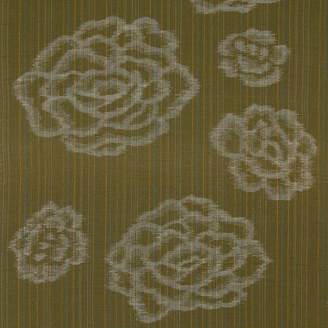 久留米絣「絵絣 しじら/緑」の写真