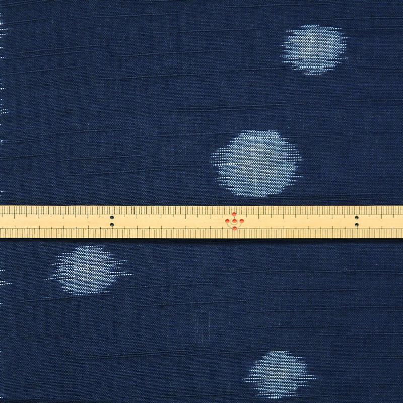 久留米絣「水玉/ネイビー」の写真